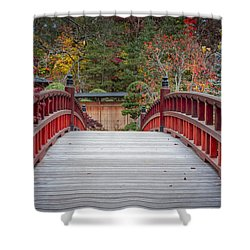 Shower Curtain featuring the photograph Japanese Bridge by Sebastian Musial