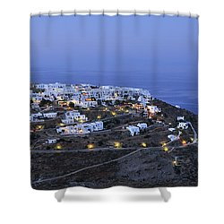 Kastro Village In Sifnos Island Shower Curtain
