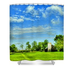 Kentucky Countryside Shower Curtain by Darren Fisher