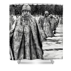 Korean War Memorial Washington Dc Shower Curtain