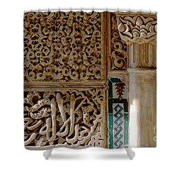 La Alhambra Granada Shower Curtain by Guido Montanes Castillo