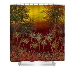 La Jungla Rossa Shower Curtain by Guido Borelli
