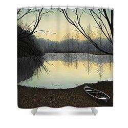 Lake Lene' Morning Shower Curtain