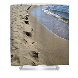 Lake Michigan Shoreline Shower Curtain