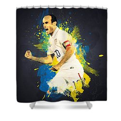 Landon Donovan Shower Curtain by Taylan Apukovska
