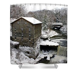 Shower Curtain featuring the photograph Lantermans Mill by Michelle Joseph-Long