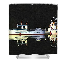 Last Light  Island Moorage Shower Curtain