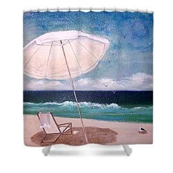 Shower Curtain featuring the painting Lazy Day by Jamie Frier