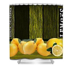 Lemon Farm Shower Curtain