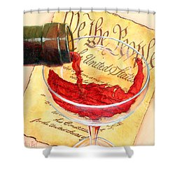 Shower Curtain featuring the painting Let Freedom Ring by Sandi Whetzel