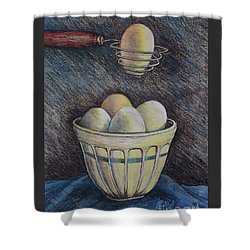Lets Cook Shower Curtain by Linda Simon