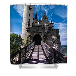 Lichtenstein Castle - Baden-wurttemberg - Germany Shower Curtain by Gary Whitton