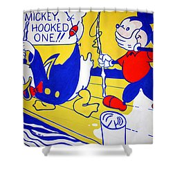 Lichtenstein's Look Mickey Shower Curtain by Cora Wandel