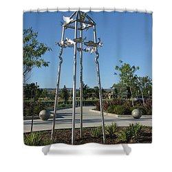 Little Chico Creek Sculpture Shower Curtain by Peter Piatt