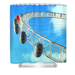 Shower Curtain featuring the photograph London Eye by Rachel Mirror