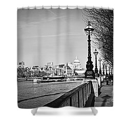 London View From South Bank Shower Curtain by Elena Elisseeva