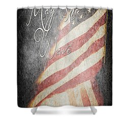 Long May She Wave Shower Curtain