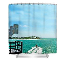 Longboat Pass Drawbridge Shower Curtain