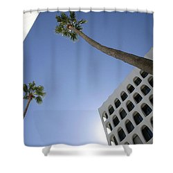 Shower Curtain featuring the photograph Looking Up In Beverly Hills by Cora Wandel