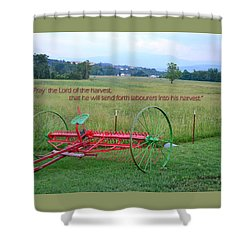 Shower Curtain featuring the photograph Lord Of The Harvest by Larry Bishop