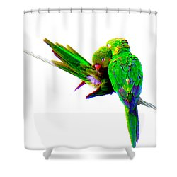 Love Birds Shower Curtain by J Anthony