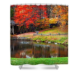 Mabry Mill Pano Shower Curtain