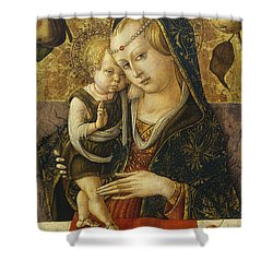 Madonna And Child Shower Curtain by Carlo Crivelli