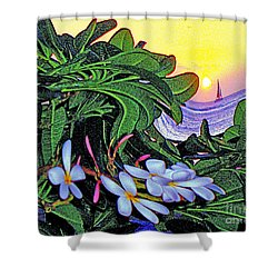 2 Mai Tais Waikiki Hawaii Shower Curtain by Jerome Stumphauzer