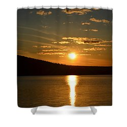 Shower Curtain featuring the photograph Maine Sunset by James Petersen