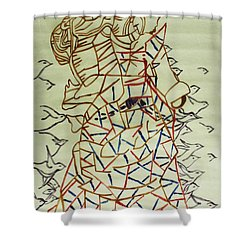 Mama Asia Shower Curtain by Gloria Ssali