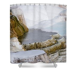 Mammoth Terraces Shower Curtain