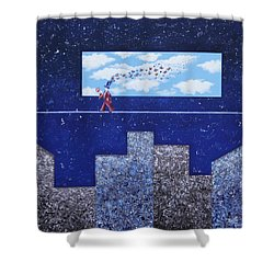 Man In Love Shower Curtain