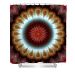 Shower Curtain featuring the digital art Mandala 83 by Terry Reynoldson