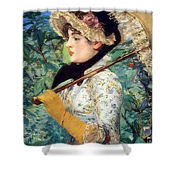 Shower Curtain featuring the photograph Manet's Spring by Cora Wandel