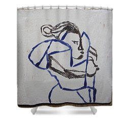 Maria - Tile Shower Curtain by Gloria Ssali
