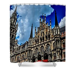 Shower Curtain featuring the photograph Marienplatz In Munich by Joe  Ng