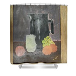 Shower Curtain featuring the painting #2 by Mary Ellen Anderson