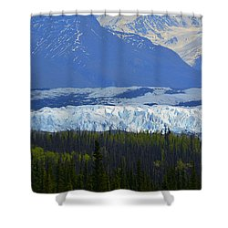 Matanuska Glacier Shower Curtain by Andrew Matwijec