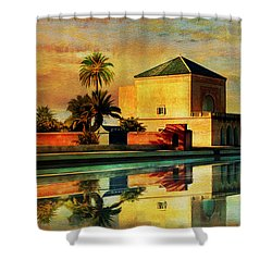 Medina Of Marakkesh Shower Curtain by Catf