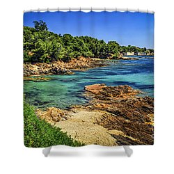 Mediterranean Coast Of French Riviera Shower Curtain by Elena Elisseeva