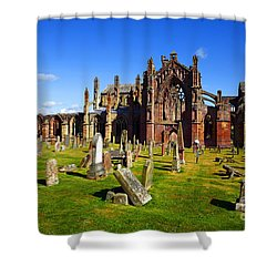 Shower Curtain featuring the photograph Melrose Abbey Scotland by Craig B