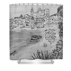 Shower Curtain featuring the painting Memorie D'estate by Loredana Messina