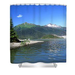 Mendenhall Glacier Shower Curtain