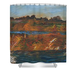 Mendota Slough Shower Curtain