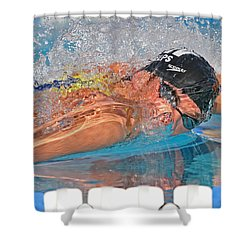 Michael Phelps Shower Curtain