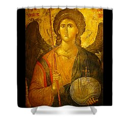 Michael The Archangel Shower Curtain by Ellen Henneke