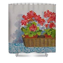 Mimi's Basket Shower Curtain