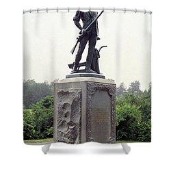 Minutemen Soldier Shower Curtain by Granger