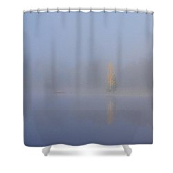 Misty Morning On A Lake Shower Curtain by Jouko Lehto
