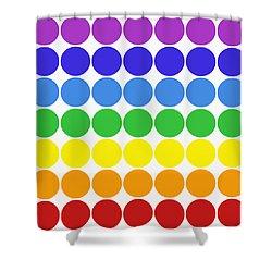Mod Pop Mid-century Modern Circles Rainbow Shower Curtain